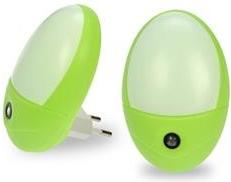 LED noční světlo Solight WL902, zelené, 0.5W, senzor, 230V