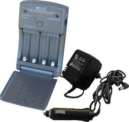 Solight DN30, Multifunkční nabíječka baterií AA/AAA, AC 230V/DC 12V, max. 600mA