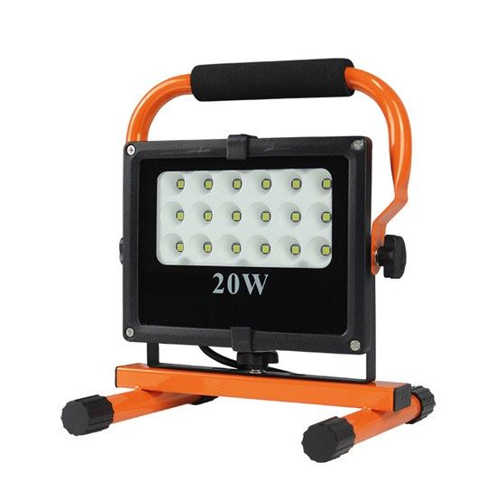 LED reflektor se stojanem, 20W, 1700lm černo oranžový WM-20W-FES