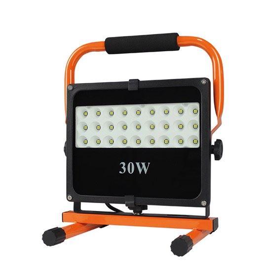 LED reflektor se stojanem, 30W, 2550lm černo oranžový WM-30W-FES