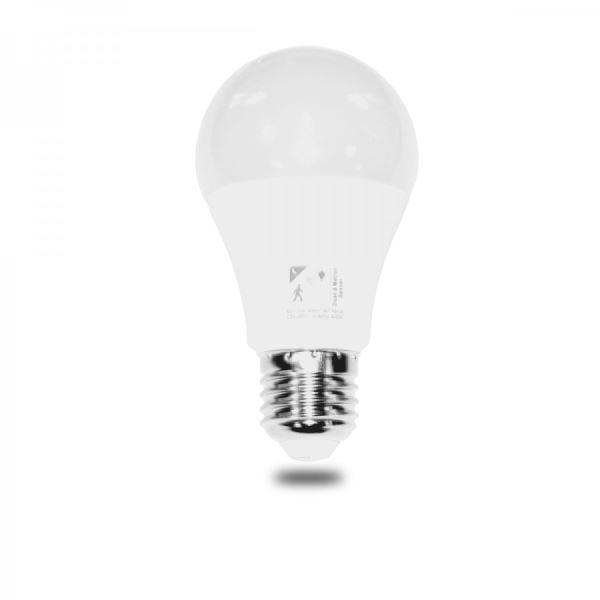 LED žárovka INQ, E27 10W A60, teplá bílá+soumrak.+pohyb.senzor IN404822
