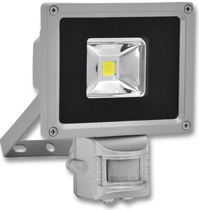 Reflektor LED, COB, 10W, 5000 K, 910 lm, IP65 šedý zahradní lampa