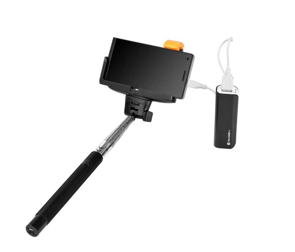 Selfie SET GoGEN 2in1, selfie tyč, power bank