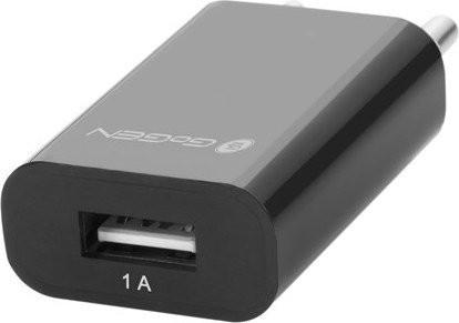 Nabíječka do sítě GoGEN ACH 100, 1x USB, černá barva