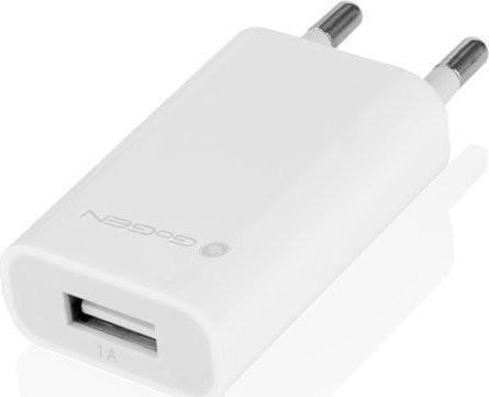 Nabíječka do sítě GoGEN ACH 100, 1x USB, bílá barva