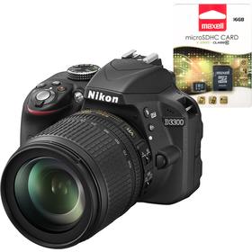 Nikon D3300 +18-105+SDHC 16GB