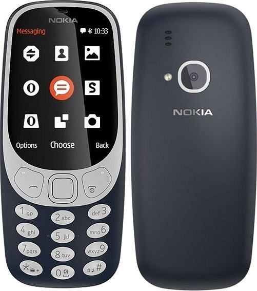 Nokia 3310 2017 Dual SIM Dark Blue Barva: modrá
