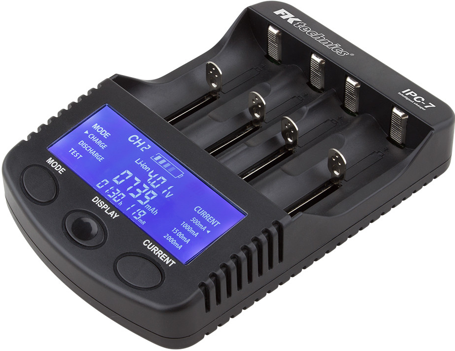 Inteligentní mikroprocesorová nabíječka IPC-7 pro NiMH, NiCd, Li-ion - AA, AAA, 18650 + USB