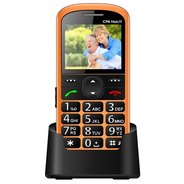 Mobilní telefon CPA Halo 11 Senior - oranžový