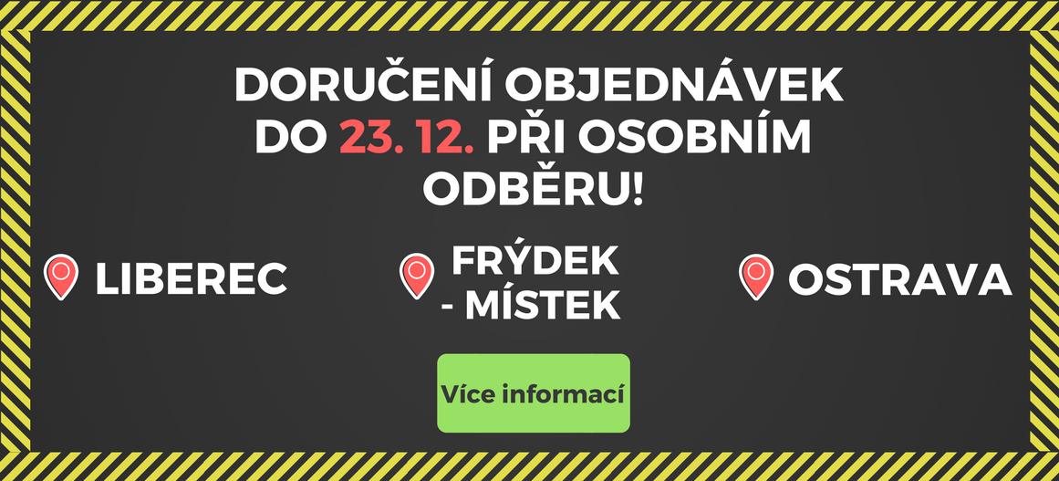 Osobní odběr objednávek do 23. 12. v Ostravě, Frýdku-Místku a Liberci!