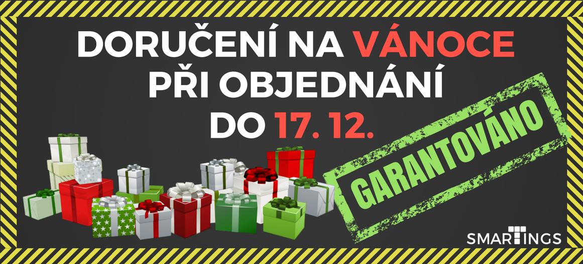 Pokud vytvoříte objednávku do 17. 12., tak ji 100% stihneme doručit pod stromeček :-)