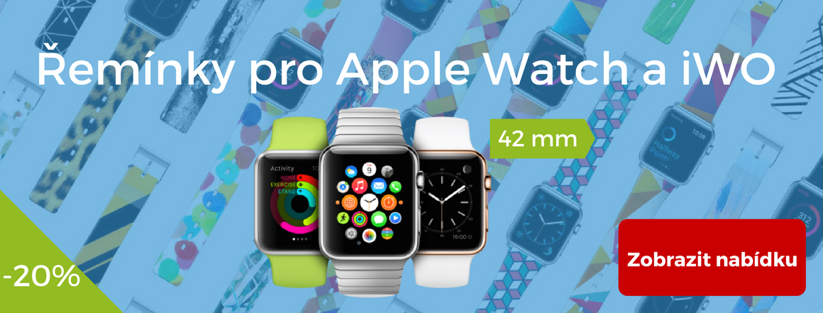Náhradní řemínky pro Apple Watch a iWO W51