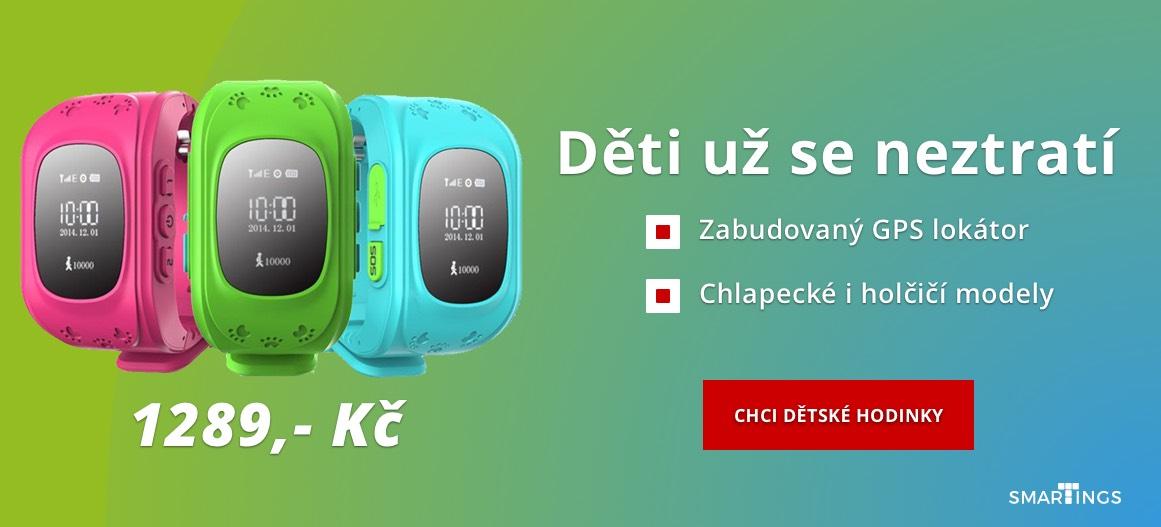 Dětské hodinky s GPS lokátorem