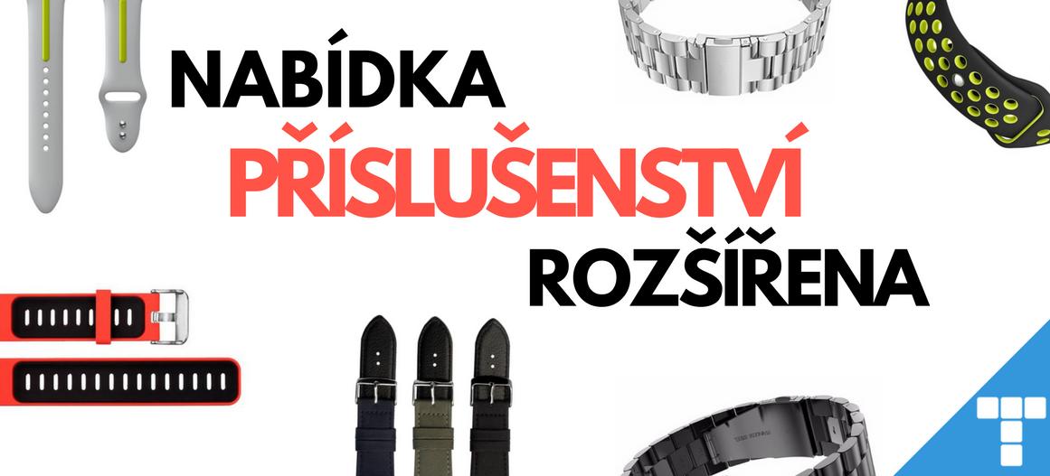 Příslušenství a doplňky pro chytré hodinky a fitness náramky