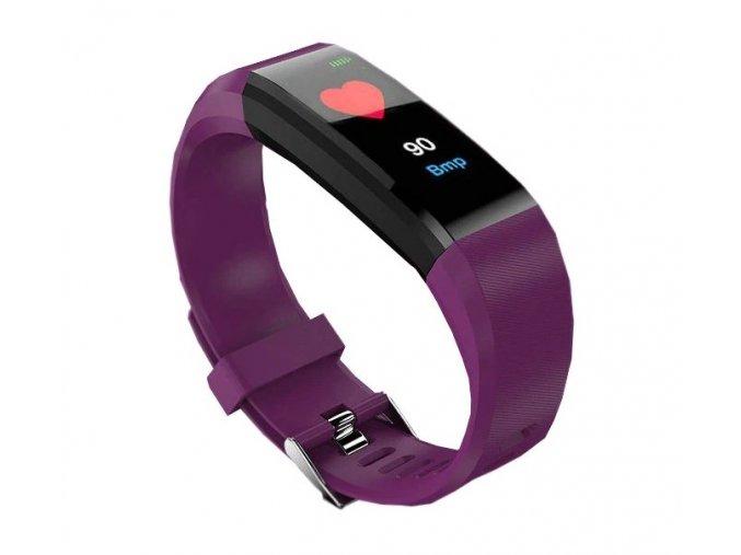 Fitness náramek ID 115 Plus fialový