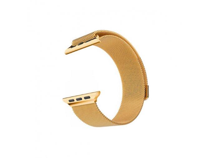 Vyměnitelný řemínek 42mm - IWO, iWatch   milanese zlatý VR50  zlatý