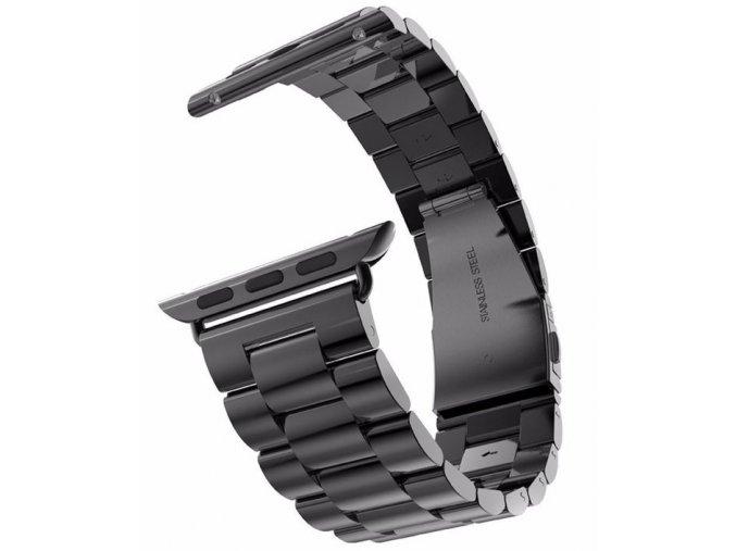 Vyměnitelný řemínek 42mm - IWO, iWatch | kovový  černá