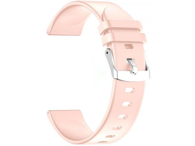 Silikonový náramek 22 mm růžová RNCE40 SW010 KW19