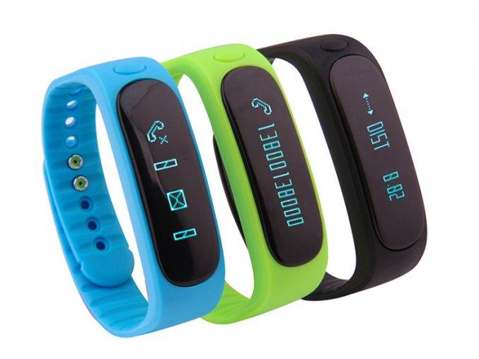 Smart Band E02 (Barva Modrá)