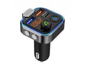 Bluetooth FM transmiter BT23 2xUSB nabíječka QC 3.0 TFMBT23