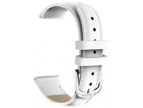 Kožený řemínek pro chytré hodinky G.Rossi bílá GR18W