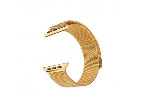 Vyměnitelný řemínek 42mm - IWO, iWatch | milanese  zlatý