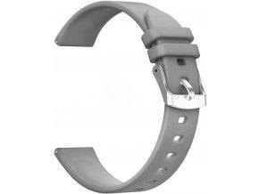 Silikonový pásek pro chytré hodinky  20 mm šedá RNCE42 SW009 KW17