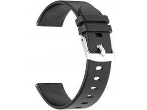 Silikonový řemínek pro Smartwatch 22 mm černá RNCE40 SW010 KW19