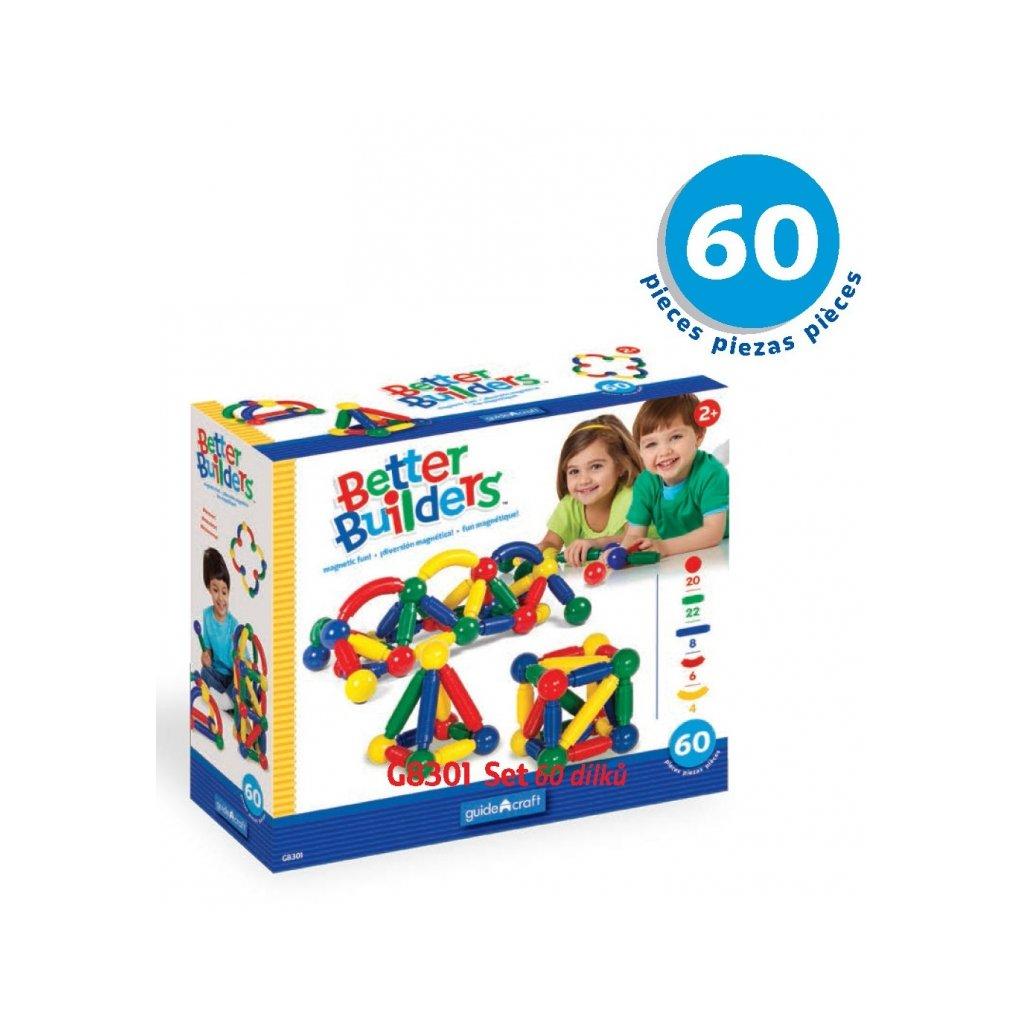 Magnetická stavebnice Better Builders - Set 60 ks