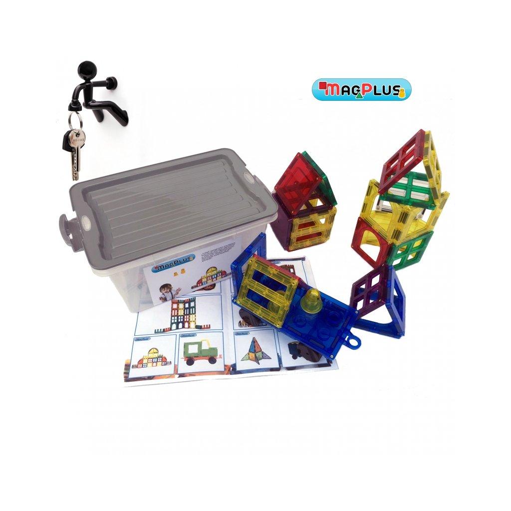 Magnetická stavebnice MagPlus Starter - set 25 ks