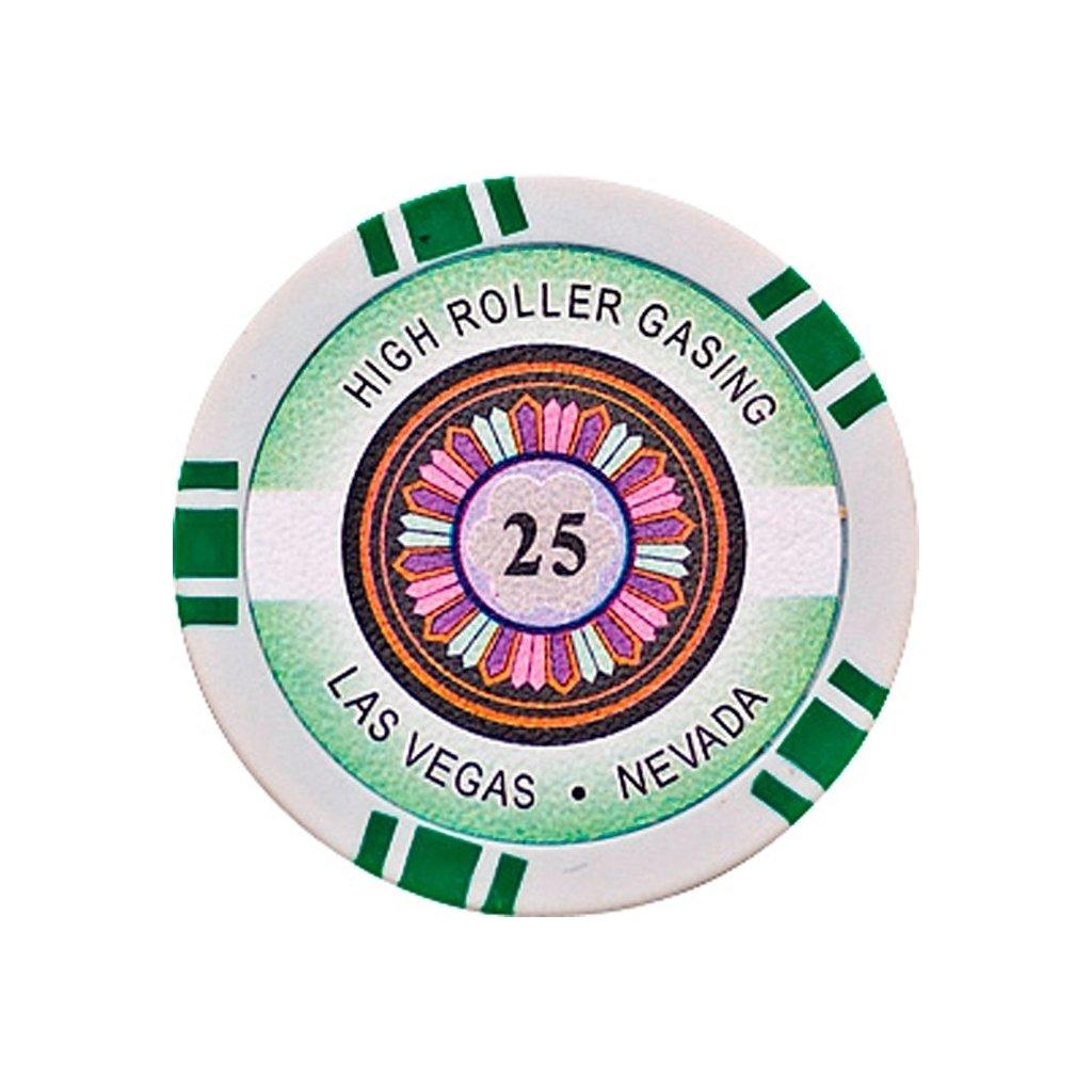 POKEROVÝ ŽETON HIGH-ROLLER 25