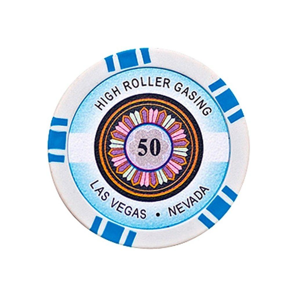 POKEROVÝ ŽETON HIGH-ROLLER 50
