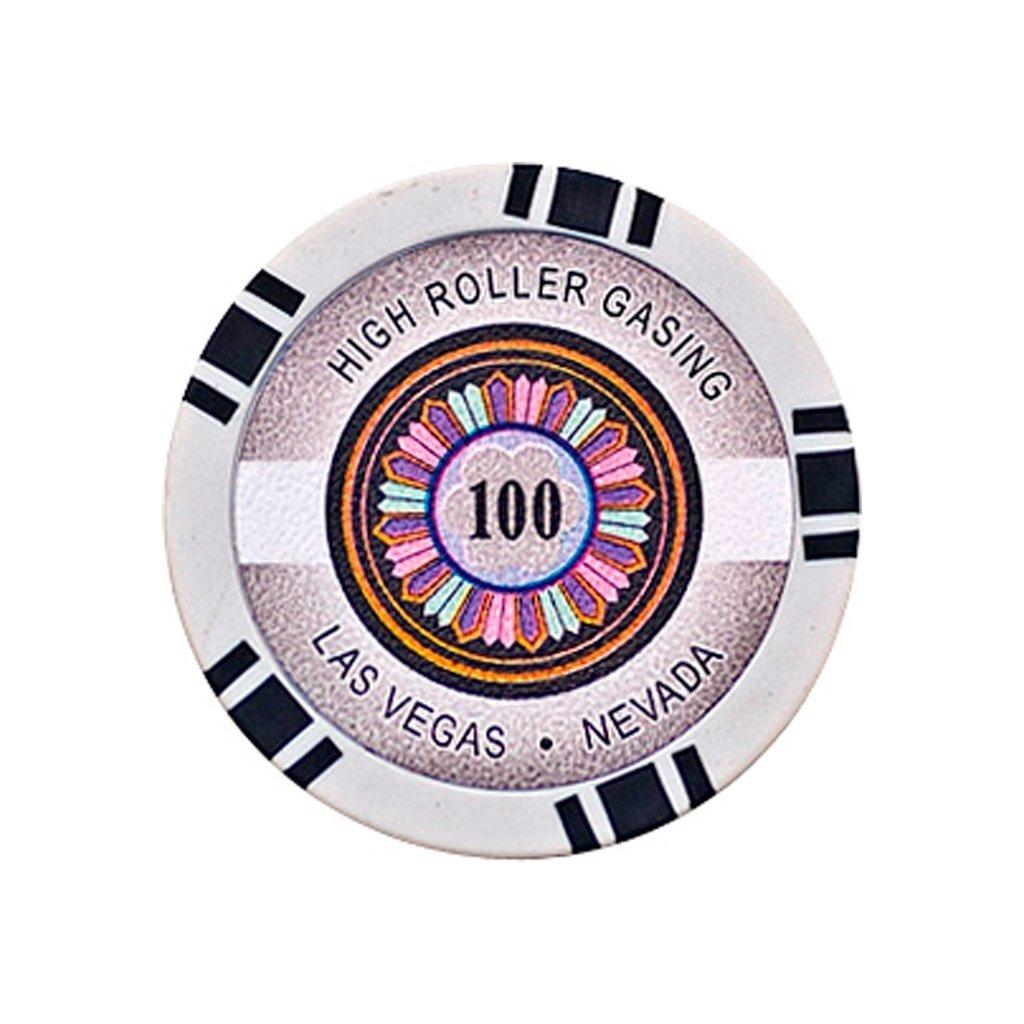 POKEROVÝ ŽETON HIGH-ROLLER 100