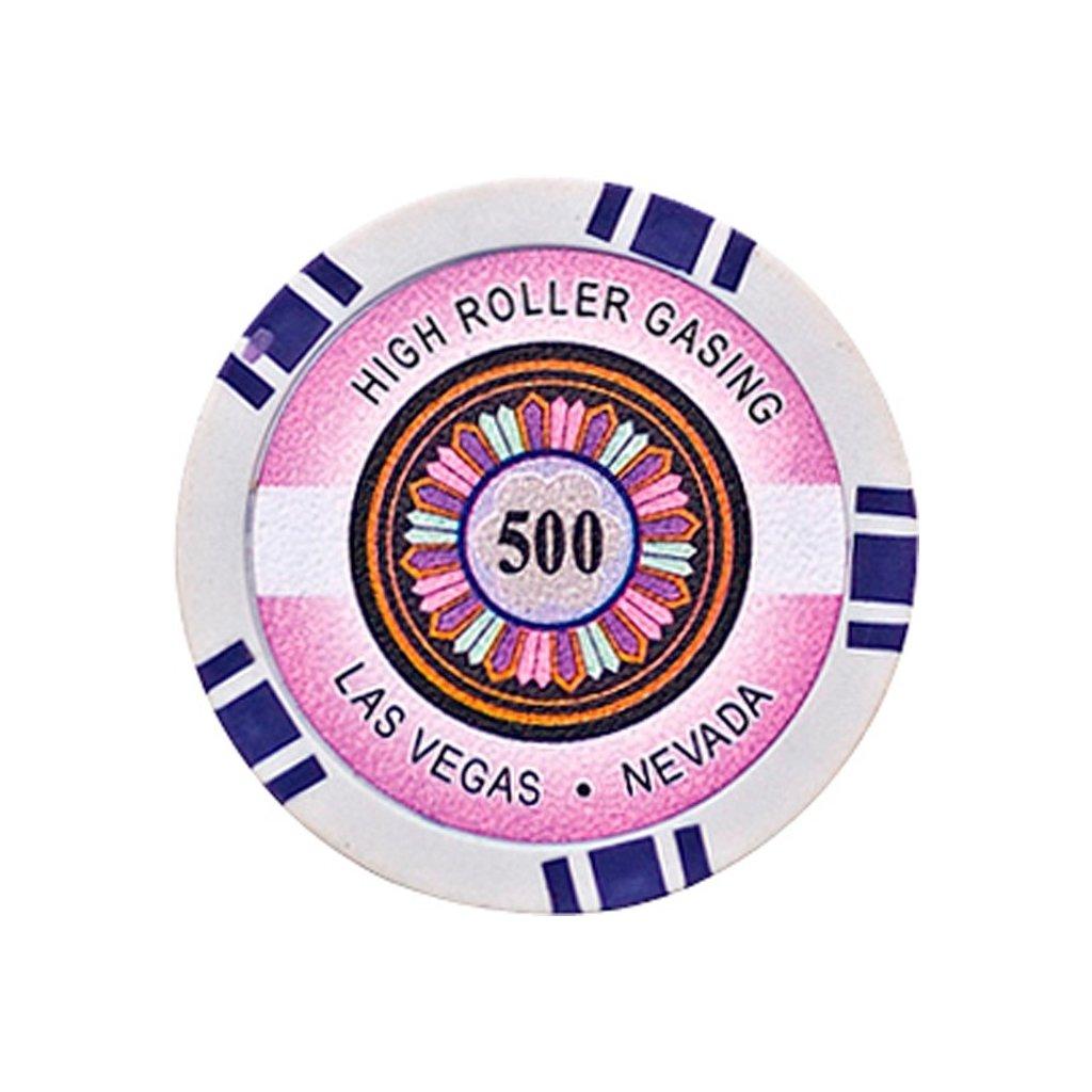 POKEROVÝ ŽETON HIGH-ROLLER 500
