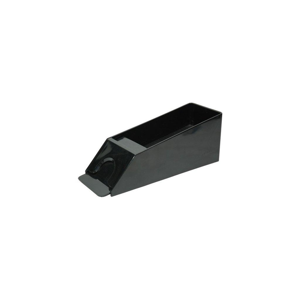 Bota - podavač karet, černý plast