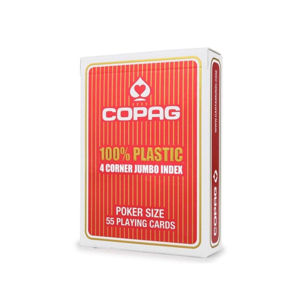 Copag 100 % Plastic 4 Cornier Jumbo Index RED