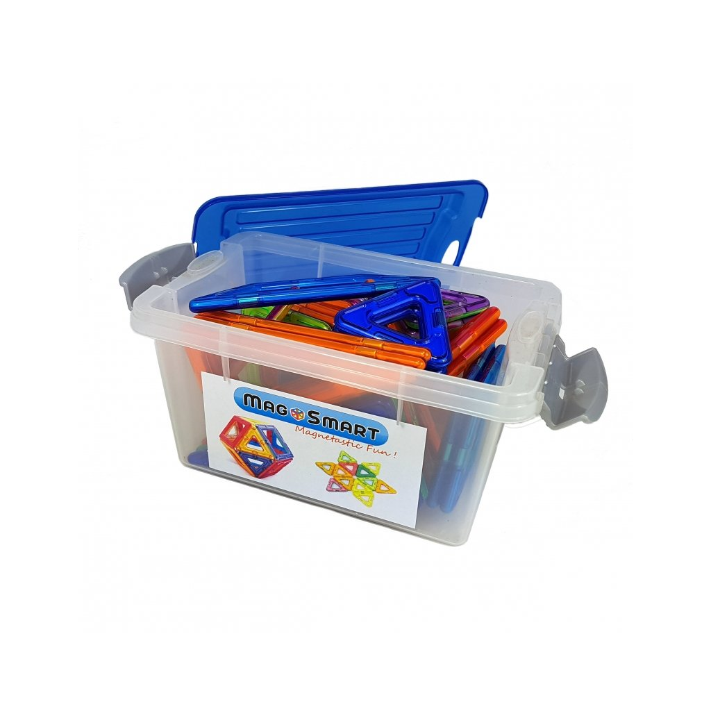 Magnetická stavebnice MagSmart 31ks plastový box - Starter