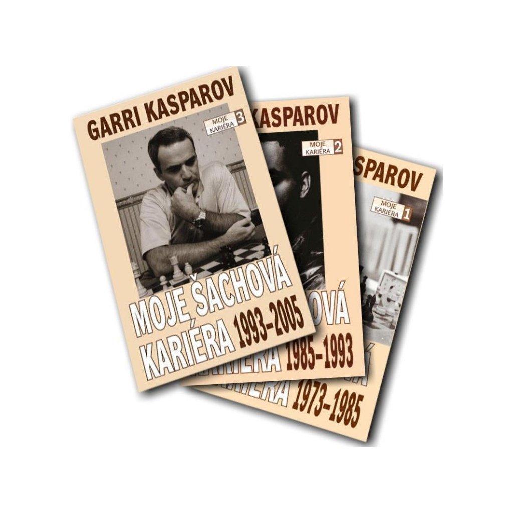 """Kniha Třídílná autobiografie Garri Kasparova """"Moje šachová kariéra"""""""