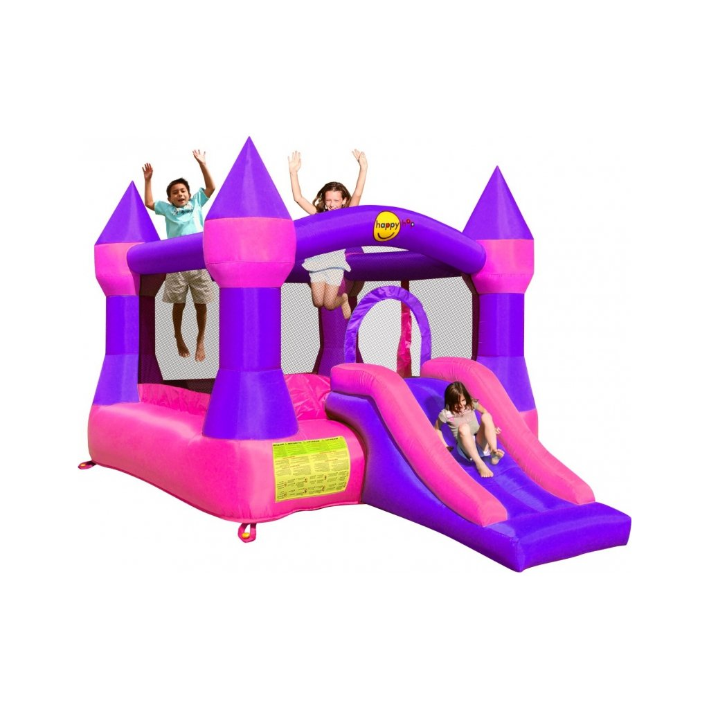 Happy Hop Skákací hrad růžovo - fialový