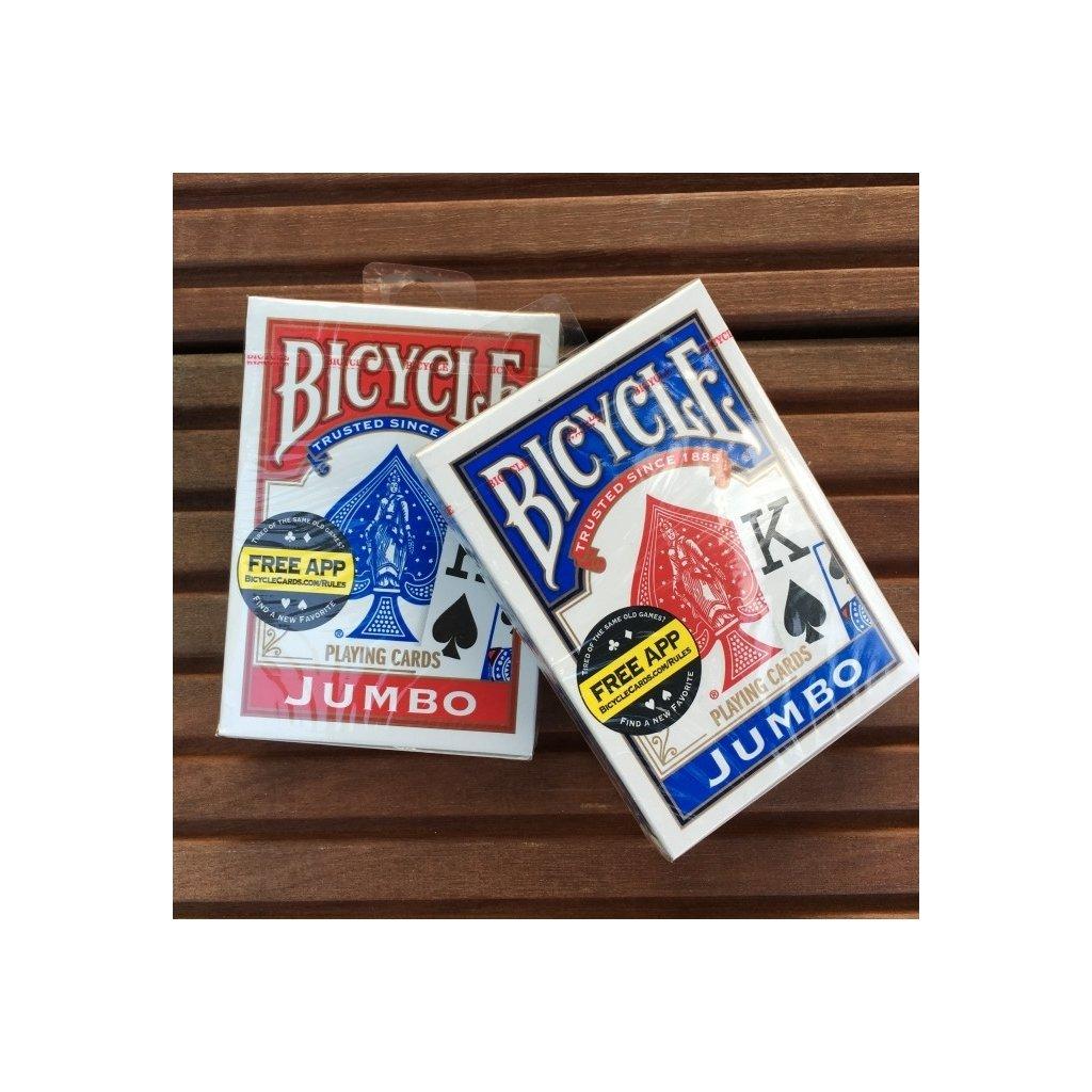 Bicycle Rider Back International Jumbo Index, Barva Modrá