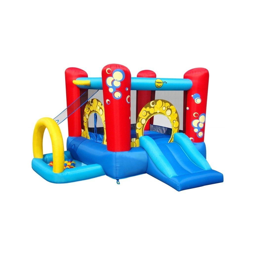 Happy Hop Multifunkční hrací centrum  Bublinky 4 v 1 s míčky
