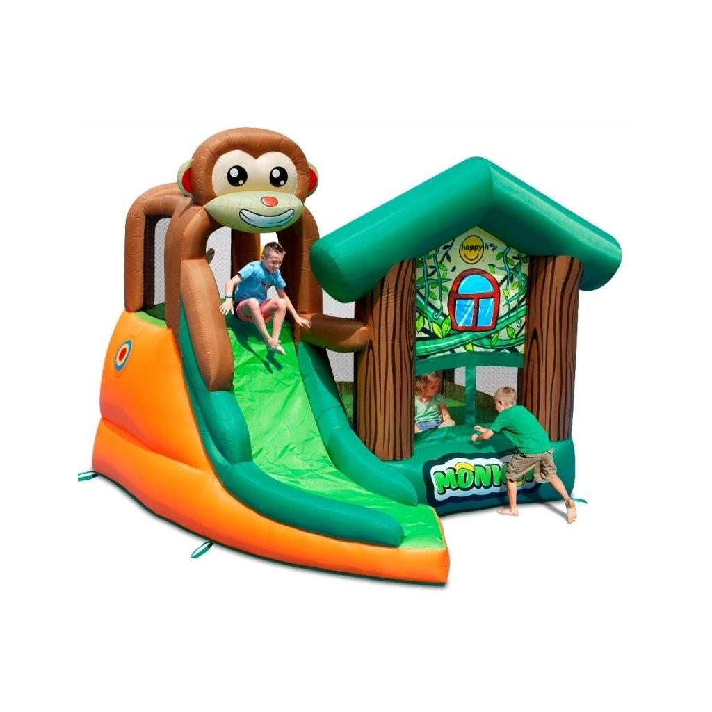 Happy Hop Opičí domek, skákací trampolína se skluzavkou
