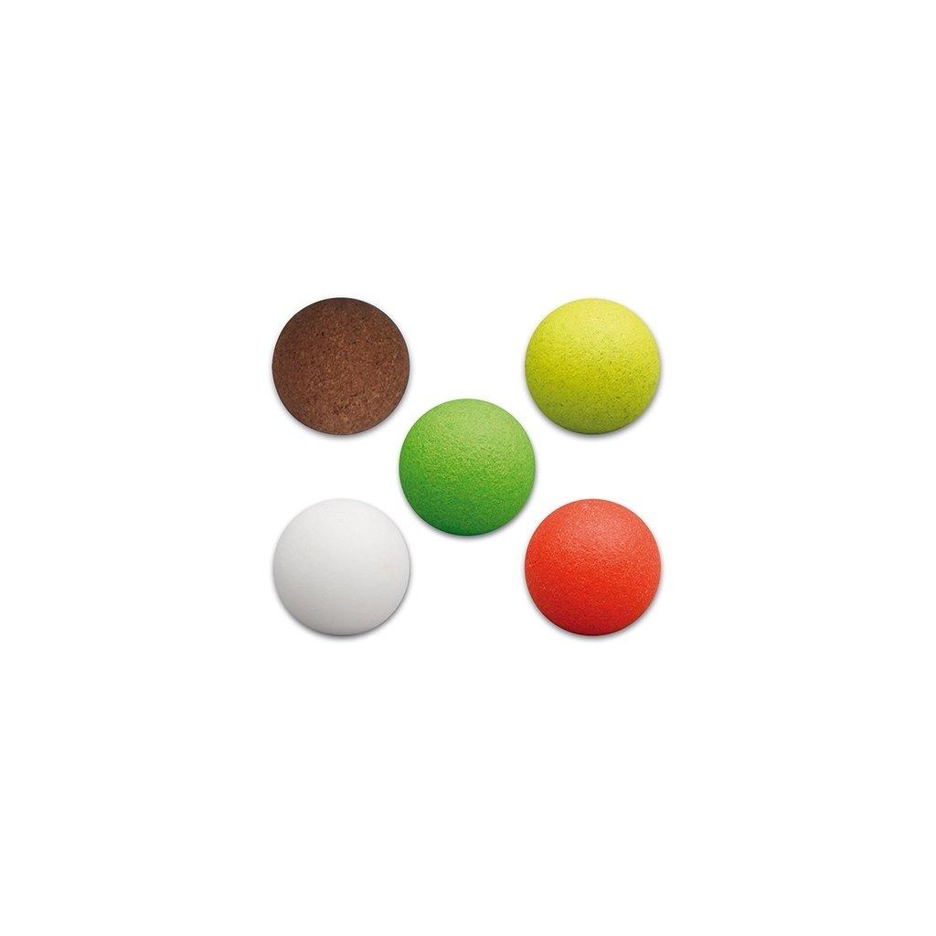 Míček na stolní fotbal korkový zelený