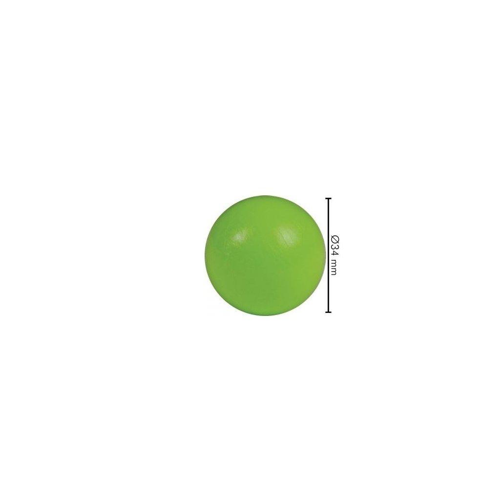 Míček stolní fotbal  barva zelená
