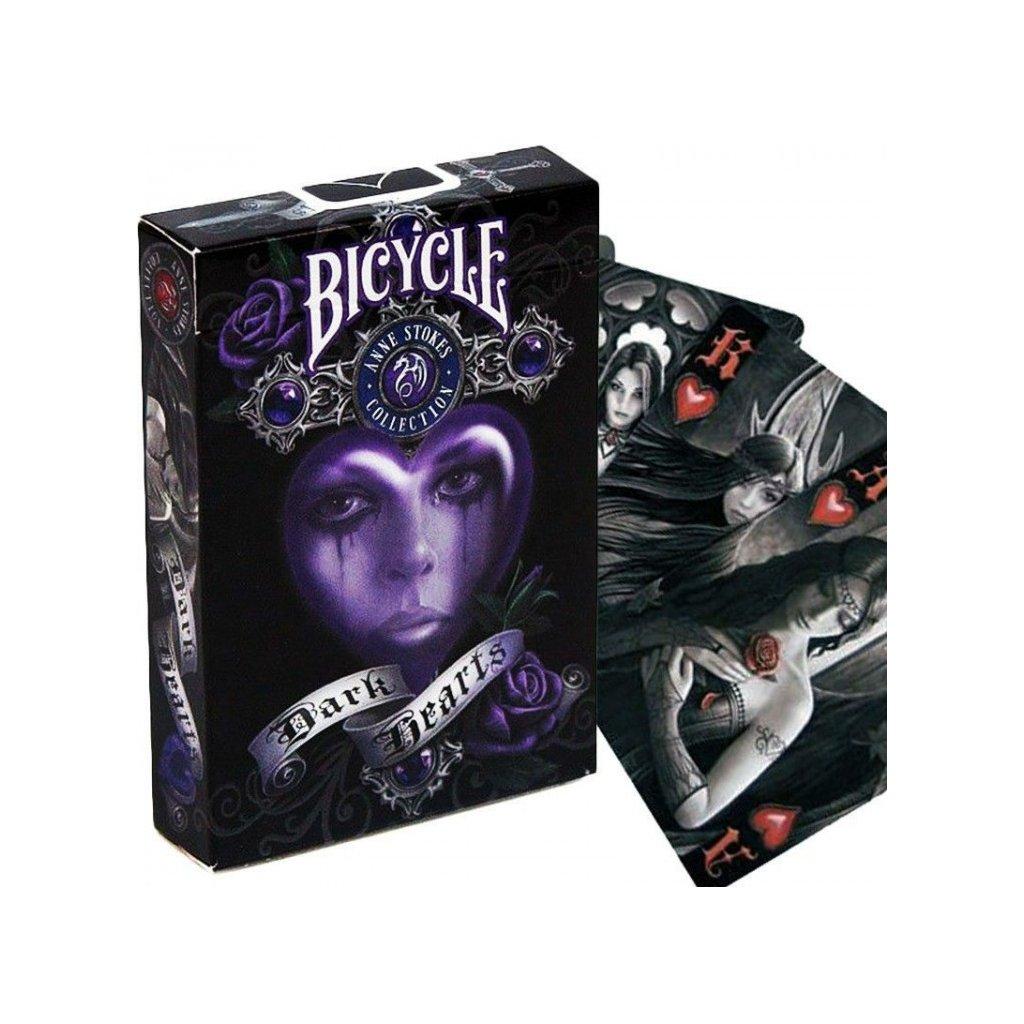 Bicycle Anne Stokes Dark Hearts - Anne Stoke temná srdce