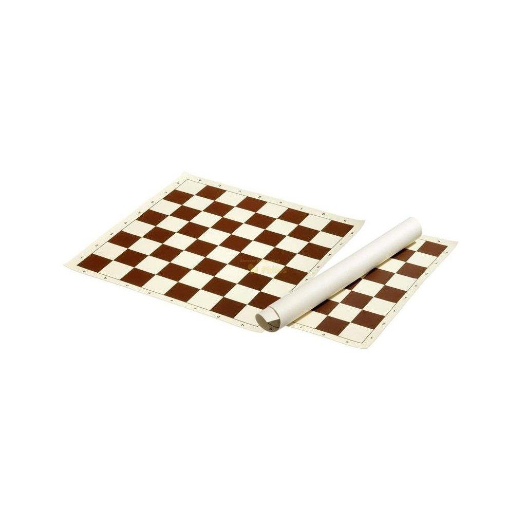 Šachové plátno hnědé, pole 58 mm