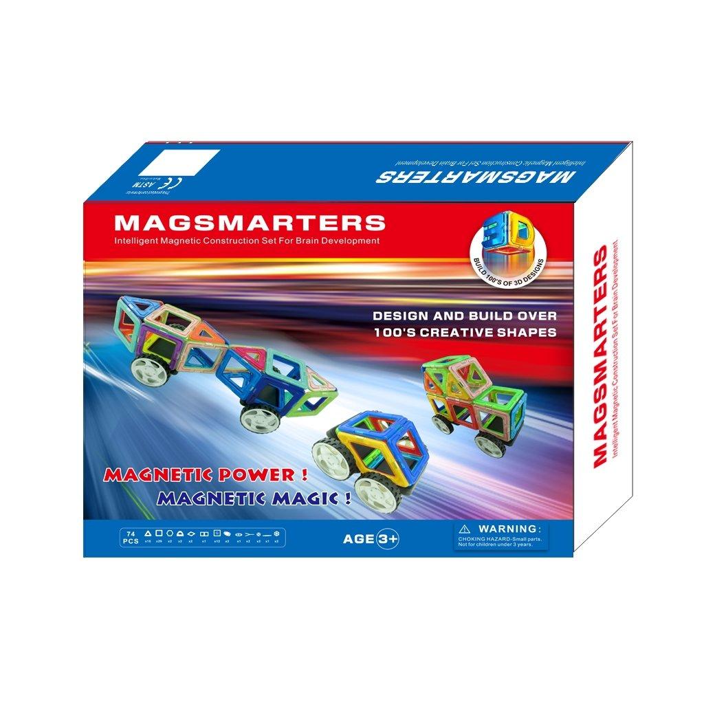 Magnetická stavebnice MagSmarters 74 dílků - Creative