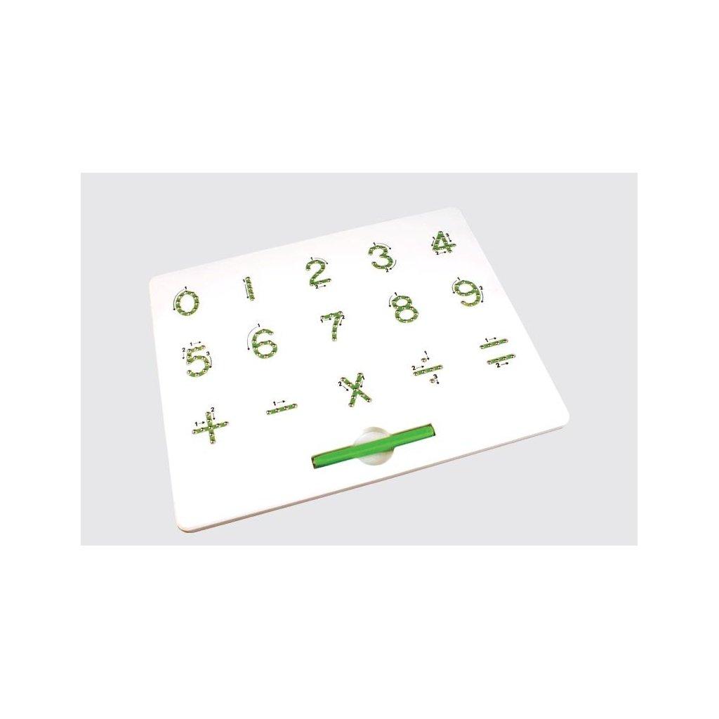 Magnetická kreslící tabulka MagPad Číslice poškozený obal