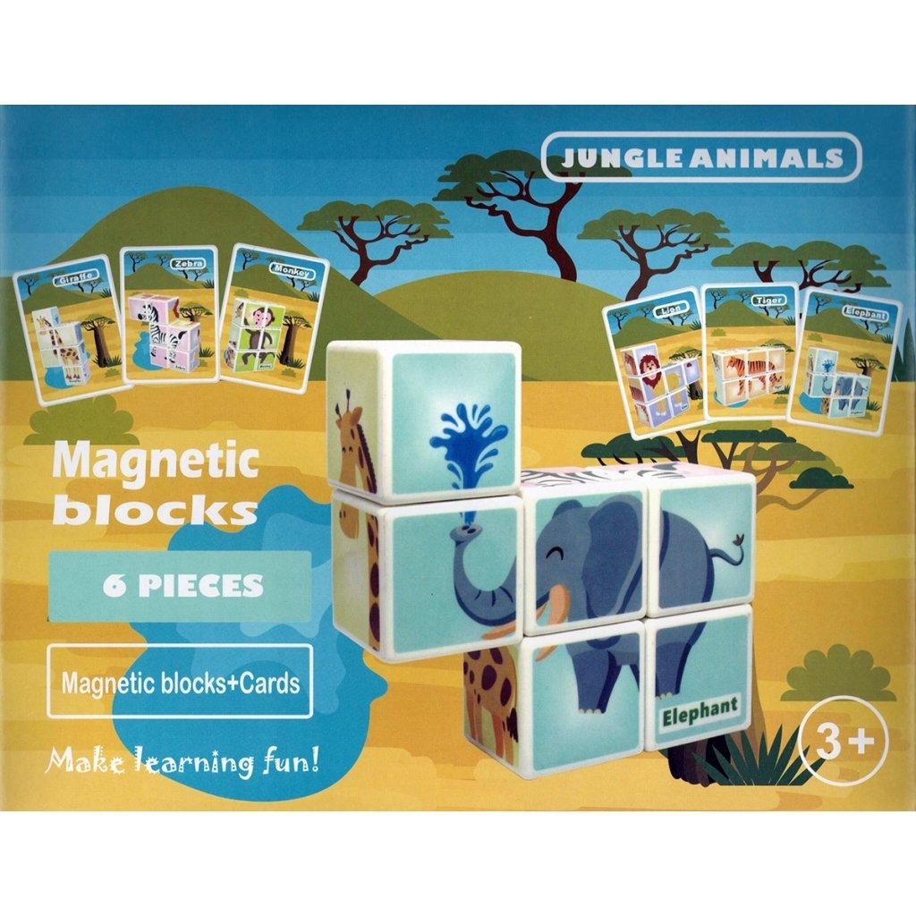 Magnetické kostky zvířátka z džungle