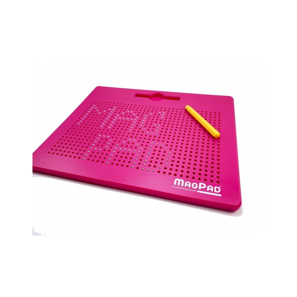 Magnetická kreslící tabulka Magpad Big 714 kuliček, Barva Růžová - Rozbaleno
